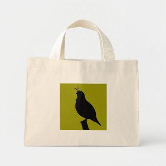 California Quail colored silhouette Bag