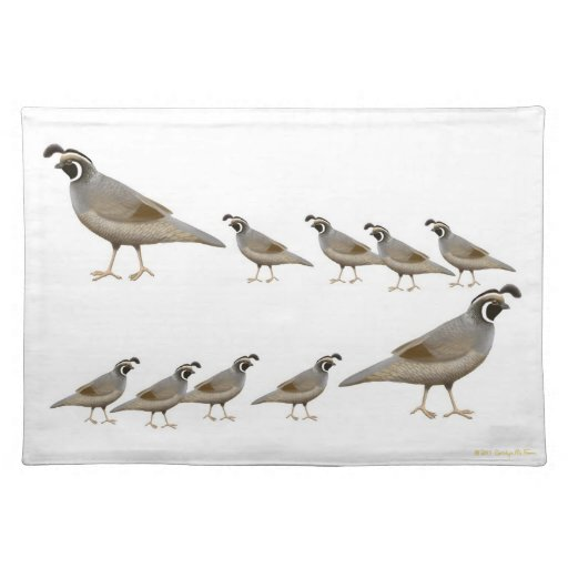Dining table dining table mats designs - California Quail Family Placemat Zazzle
