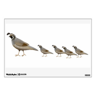 California Quail Family Wall Decal