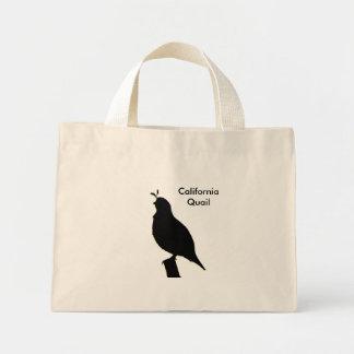 California Quail Silhouette Bag
