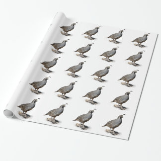CALIFORNIA QUAIL WRAPPING PAPER