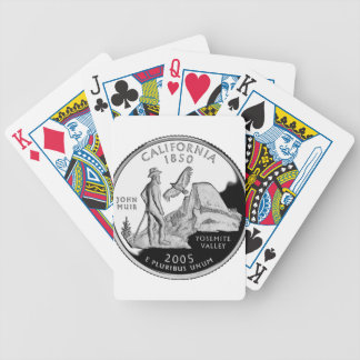 California Quarter Bicycle Playing Cards
