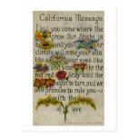 California que saluda a Postcard (1914) Postales