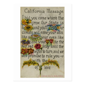 California que saluda a Postcard (1914) Tarjeta Postal