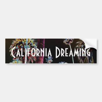 California que soña a la pegatina para el parachoq pegatina para auto