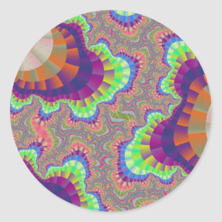 California Rainbow Gear Large Round Stickers