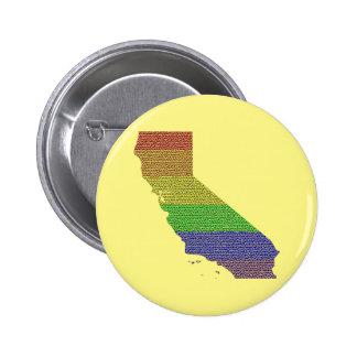 California Rainbow Pride Flag Mosaic Button