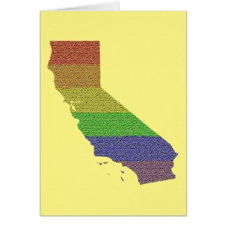 California Rainbow Pride Flag Mosaic Card