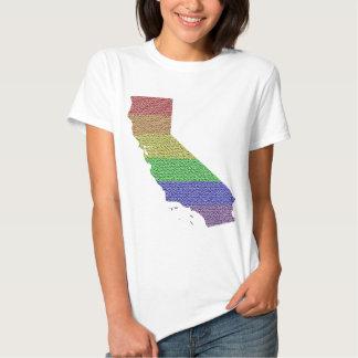 California Rainbow Pride Flag Mosaic Especially fo T Shirt