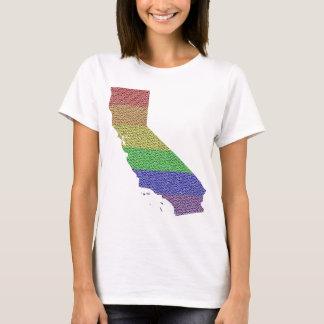 California Rainbow Pride Flag Mosaic Especially fo T-Shirt