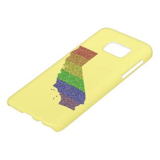 California Rainbow Pride Flag Mosaic Samsung Galaxy S7 Case
