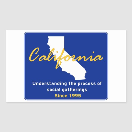California Rectangular Sticker
