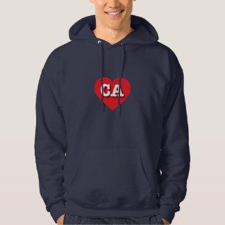 California red heart - Big Love Hoodie