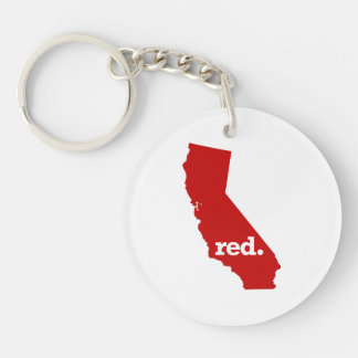 CALIFORNIA RED STATE KEYCHAIN