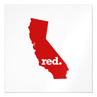 CALIFORNIA RED STATE MAGNETIC CARD