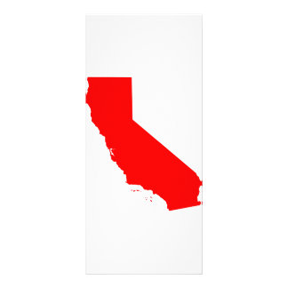 California Red State Rack Card