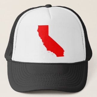 California Red State Trucker Hat
