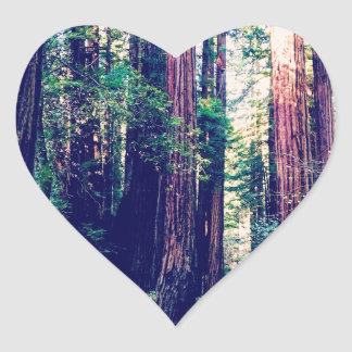 California Redwoods Heart Sticker