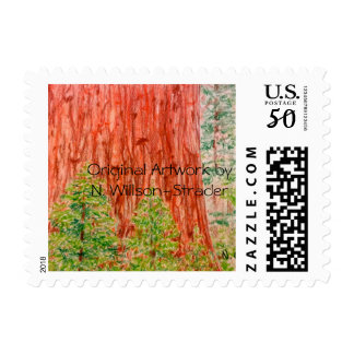 """California Redwoods"" Original Artwork Stamps"