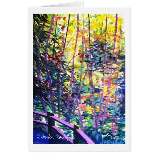California Redwoods Path Greeting Card