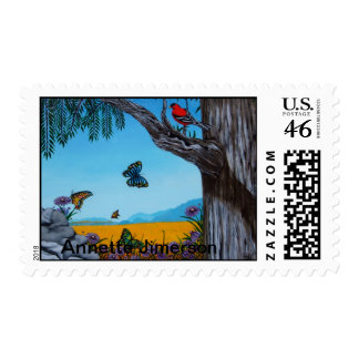 California Redwoods Postage Stamp