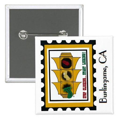 California Region Stamp Pinback Button