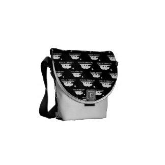 California Republic 1 Black and White Courier Bag