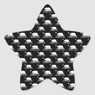 California Republic 1 Black and White Star Sticker