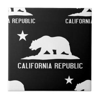 California Republic 1 Black and White Ceramic Tile