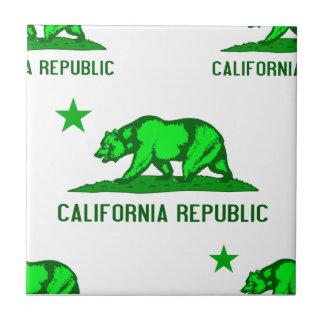 California Republic 1 Green Ceramic Tile