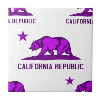 California Republic 1 Purple Ceramic Tile