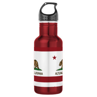 California Republic Alturas Flag Water Bottle