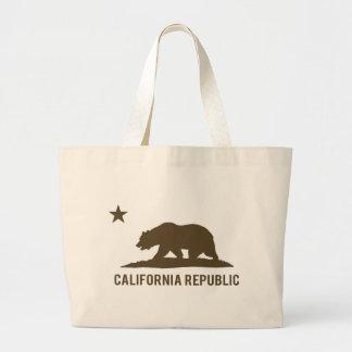 California Republic - Basic - Brown Jumbo Tote Bag
