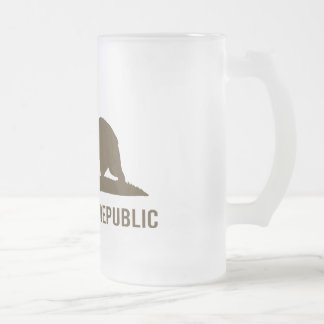 California Republic - Basic - Brown Frosted Glass Beer Mug