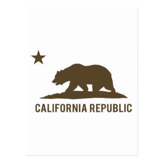 California Republic - Basic - Brown Postcard