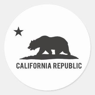 California Republic - Basic Classic Round Sticker