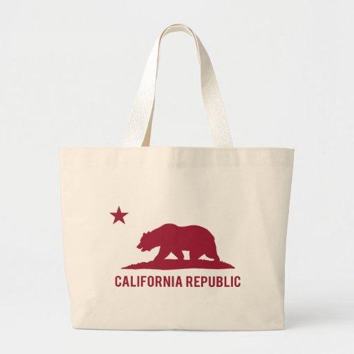 California Republic - Basic - Red Jumbo Tote Bag