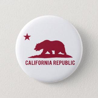 California Republic - Basic - Red Pinback Button