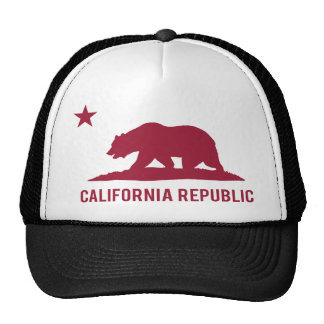 California Republic - Basic - Red Trucker Hat