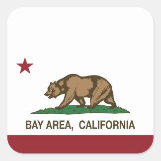 California Republic Bay Area Square Sticker
