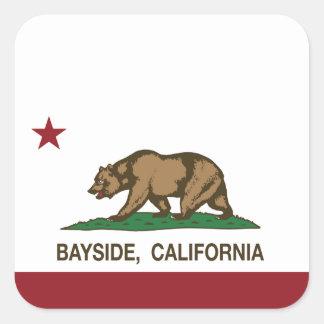 California Republic Bayside Flag Square Sticker