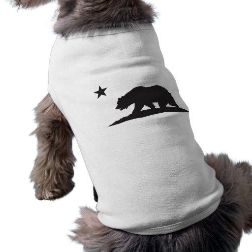 California Republic Bear - Black Doggie Tee Shirt