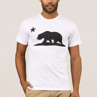 California Republic Bear - Black T-Shirt