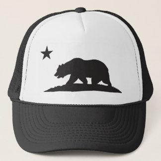 California Republic Bear - Black Trucker Hat