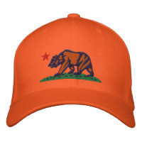 CALIFORNIA REPUBLIC BEAR Embroidered Cap Embroidered Hats