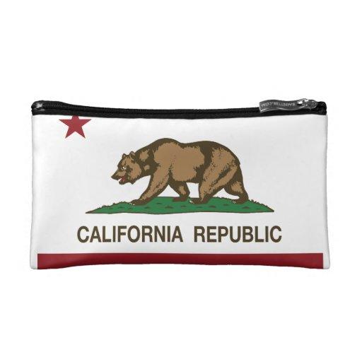 California Republic Bear Flag Cosmetic Bags