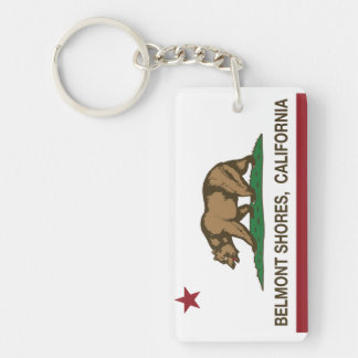 California Republic Bear Flag Belmont Shores Keychain