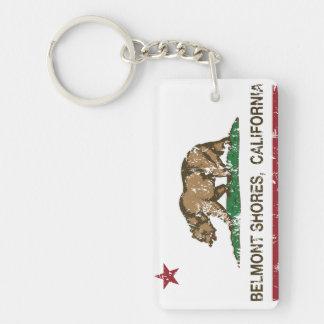 California Republic Bear Flag Belmont Shores Rectangular Acrylic Keychains