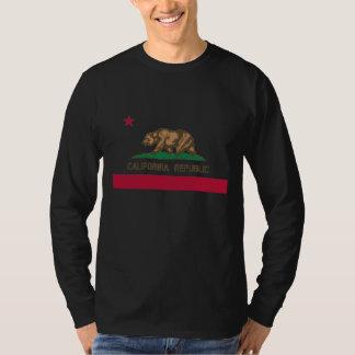California Republic bear flag long sleeve shirt