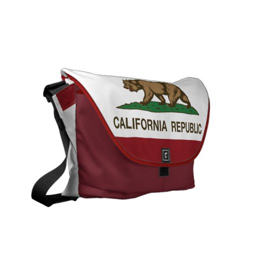 California Republic Bear Flag Messenger Bags